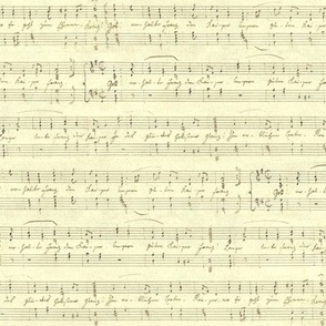 Haydn's seamless handwritten sheet music