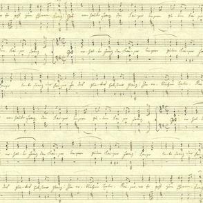 Haydn's seamless handwritten sheet music