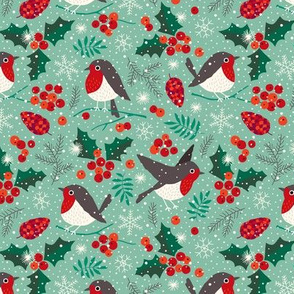 Christmas birds in snow (small)