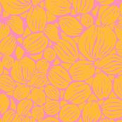 Orange petals on mid pink