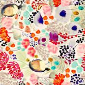 Nesting In Blooms (Sideways Print)