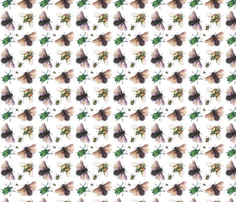 Beautiful Bugs fabric by klaire_de_lys on Spoonflower - custom fabric