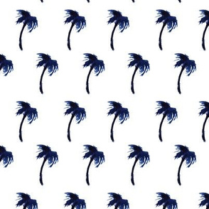Watercolor blue palms