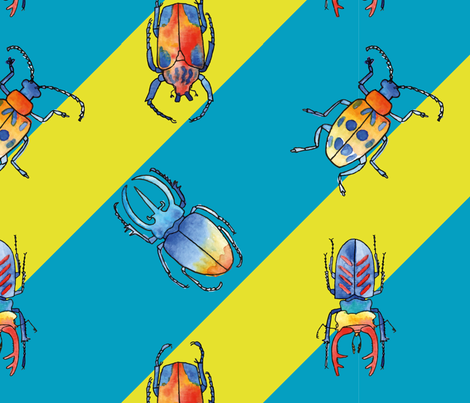 Wonderful Beetles fabric by miniblossomsdesigns on Spoonflower - custom fabric