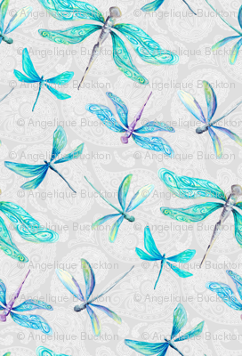 Dragonflies on Paisley