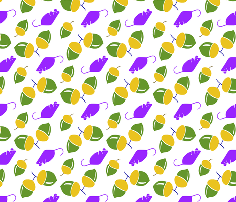 Cheeky Purple Mouse 3 fabric by viviennep on Spoonflower - custom fabric