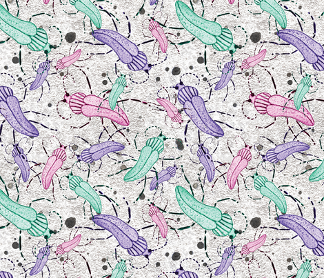 Street Beetles fabric by daintydora on Spoonflower - custom fabric