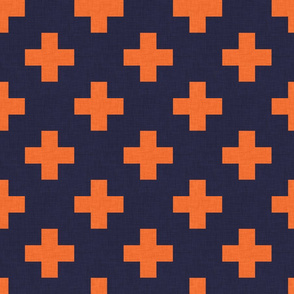 plus one navy and orange