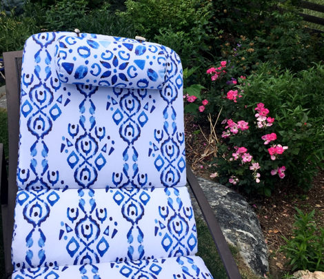 Blue Indigo Boho ||  Bohemian Ikat Watercolor White Abstract Painterly Stripe Spot_Miss Chiff Designs