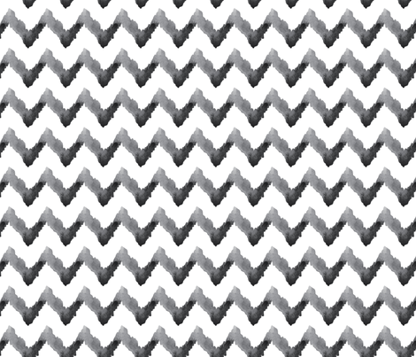 Chevron Watercolor || Home Decor Neutral Black White Gray Grey Tribal Ethnic Ikat _ Miss Chiff Designs fabric by misschiffdesigns on Spoonflower - custom fabric