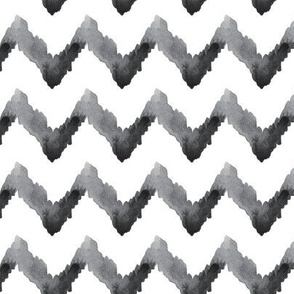 Chevron Watercolor || Home Decor Neutral Black White Gray Grey Tribal Ethnic Ikat _ Miss Chiff Designs
