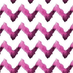 Watercolor Chevron Home Decor Magenta Pink White_Miss Chiff Designs