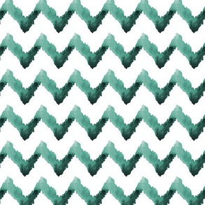 Watercolor Chevron Ikat Home Decor Jade Green White Tribal_Miss Chiff Designs