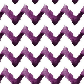 Watercolor Chevron Home Decor Ikat Plum Purple  Eggplant Aubergine Tribal_Miss Chiff Designs