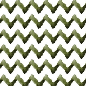 Chevron Watercolor Home Decor olive green white tribal _Miss Chiff Designs
