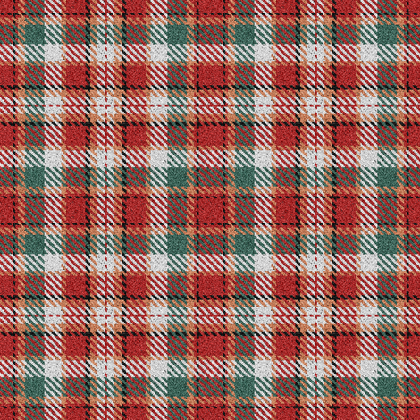 Fuzzy Look Red and Green Christmas Plaid fabric by eclectic_house on Spoonflower - custom fabric