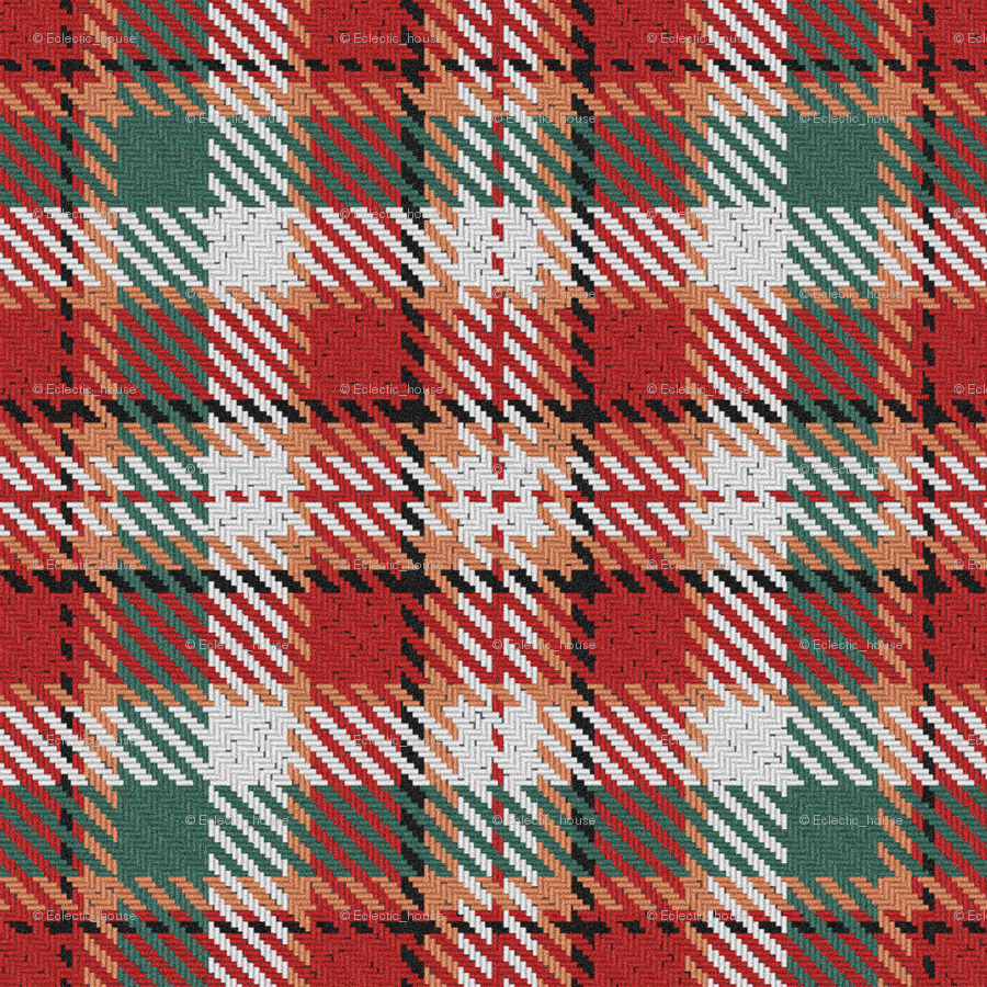 Christmas Plaid.Red And Green Christmas Plaid Giftwrap Eclectic House