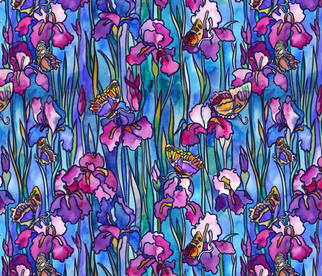 stained glass butterfly fabric by torysevas on Spoonflower - custom fabric