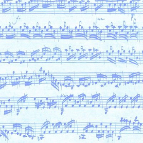 Bach's handwritten sheet music - seamless, Carolina blues