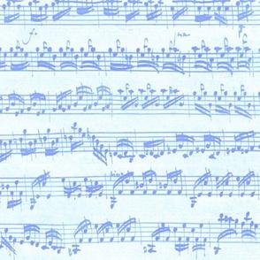 Bach's handwritten sheet music - seamless, Carolina blues