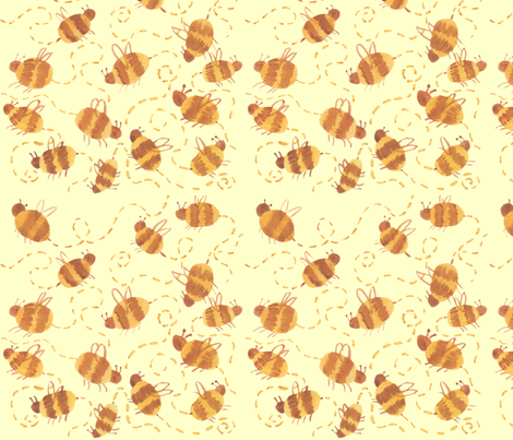 Buzz Buzz fabric by mamacreative on Spoonflower - custom fabric