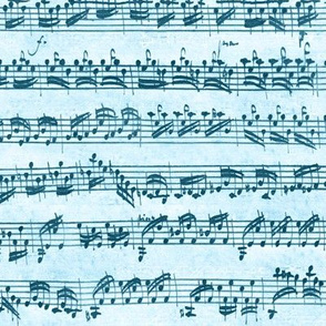 Bach's handwritten sheet music - seamless, sailing blues