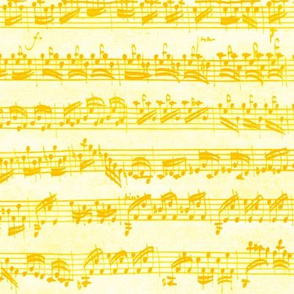 Bach's handwritten sheet music - seamless, dotgold