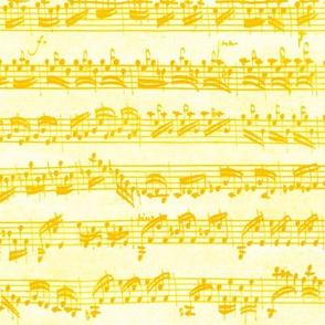 Bach's handwritten sheet music - seamless, dotgold