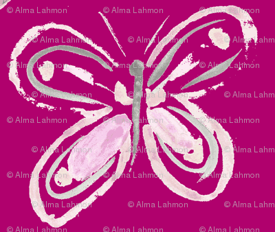 Butterfly on Fuchsia