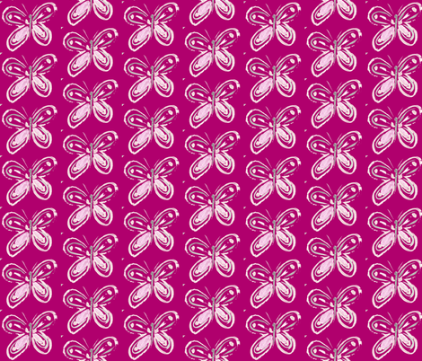Butterfly on Fuchsia fabric by texas_soul on Spoonflower - custom fabric