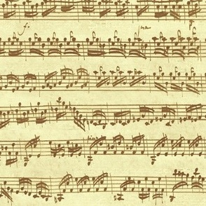 Bach's handwritten sheet music - seamless, summer brown