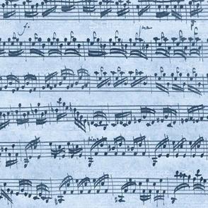 Bach's handwritten sheet music - seamless, natural blues