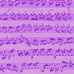 Bach's handwritten sheet music - seamless, mad purple