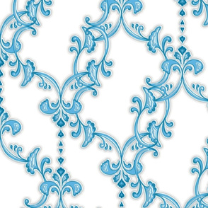 offset flourish - blue