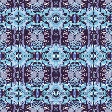 Native_Pattern3_Center_Light_Gray_Teal fabric by colormedesign on Spoonflower - custom fabric