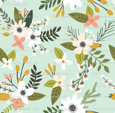 mint sprigs and blooms // small