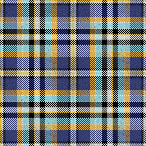 Blue Yellow Aqua Black and White Plaid fabric by eclectic_house on Spoonflower - custom fabric