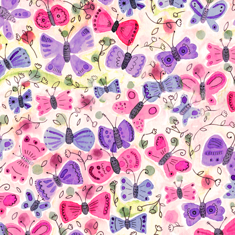 Happy Butterflies fabric by jacquelinehurd on Spoonflower - custom fabric