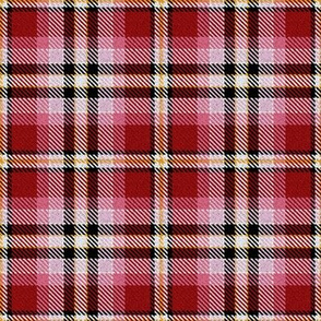 Red Pink Yellow Black and White Plaid