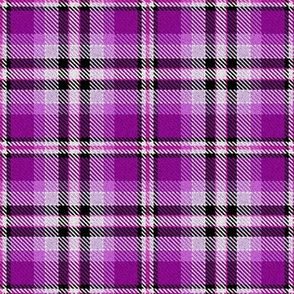 Violet Pink Yellow Black and White Plaid