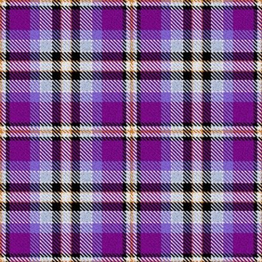 Violet Lavender Yellow Black and White Plaid
