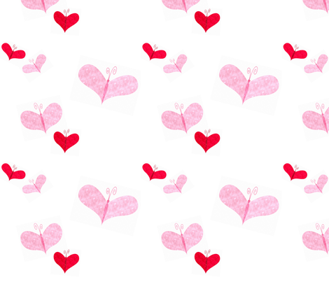 Love butterflies fabric by mission:design on Spoonflower - custom fabric