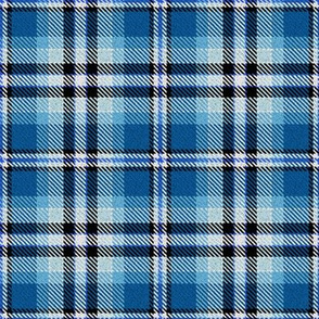 Blue Black and White Plaid