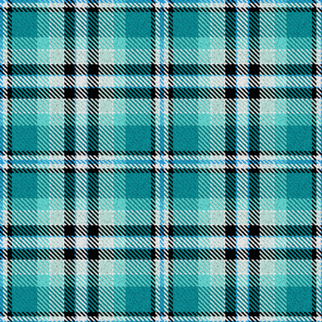 Turquoise Black and White Plaid fabric by eclectic_house on Spoonflower - custom fabric