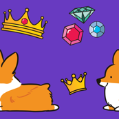 Corgi Royalty Purple Red Pembroke