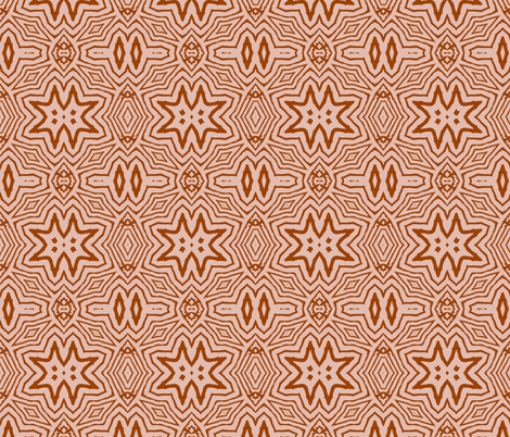 BLUSH_STAR_SIENNA_AND_PINK fabric by holli_zollinger on Spoonflower - custom fabric