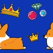 Corgi Royalty Blue Red Pembroke