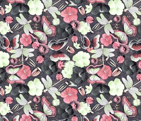 in the garden fabric by kociara on Spoonflower - custom fabric