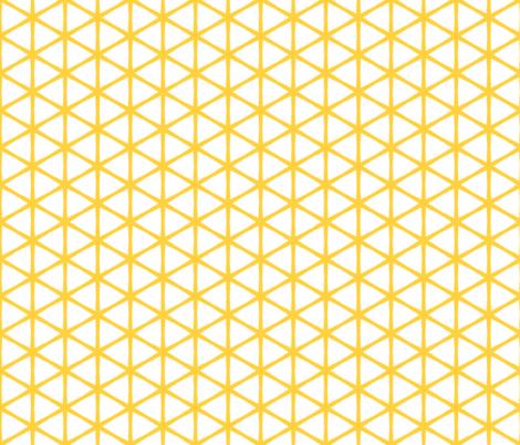 Palladium - Night on the tiles Yellow Large fabric by kooki_studio on Spoonflower - custom fabric
