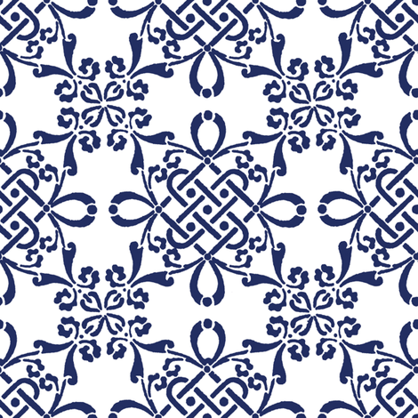 Zara in ink fabric by lilyoake on Spoonflower - custom fabric